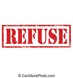 Refuse-stamp
