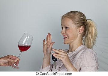 refuses, auto, treiber, alkohol