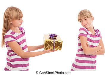 Refusing a present