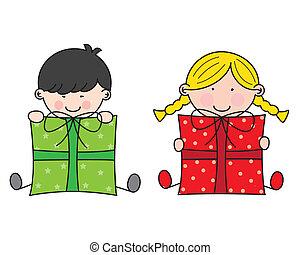 regali, bambini