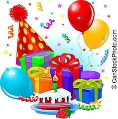 regali, decorazione, compleanno