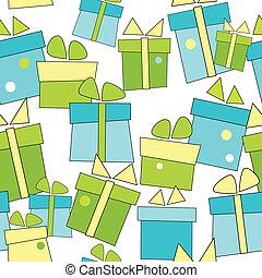regali, vettore, seamless, fondo
