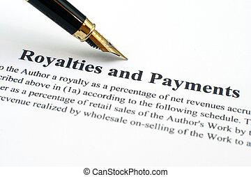 regalità, pagamenti