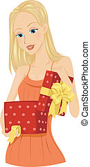 regalo, apertura