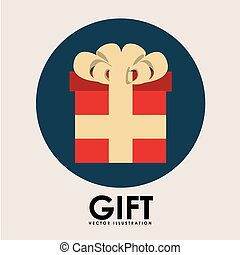 regalo, bottone