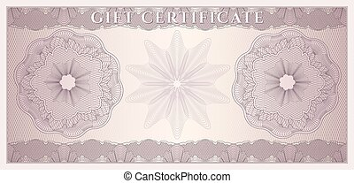regalo, cupón, certificado, coucher