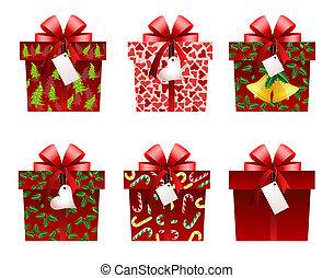 regalo de navidad, iconos