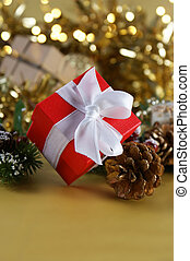 regalo de navidad, plano de fondo