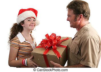 regalo de navidad, receiving