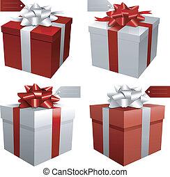 regalo de navidad, rojo