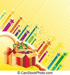 regalo, fondo, celebrazione
