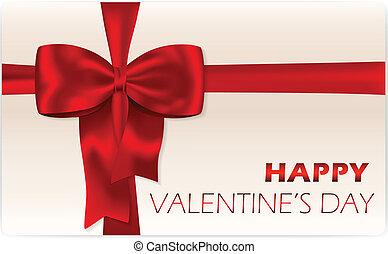 regalo, giorno, scheda, valentine