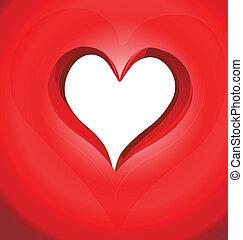 regalo, giorno valentines, scheda, sagoma