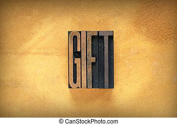 regalo, letterpress