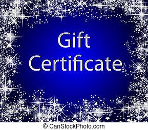 regalo natale, certificato