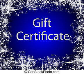 regalo, navidad, certificado
