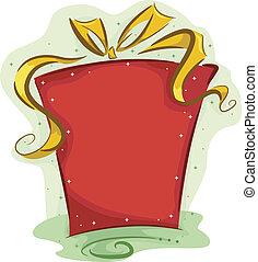 regalo, navidad, plano de fondo