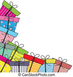 regalo, paquetes