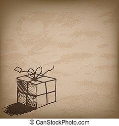 regalo, saludo, vector, diseño, o, tarjeta