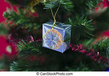 regalo, su, albero natale