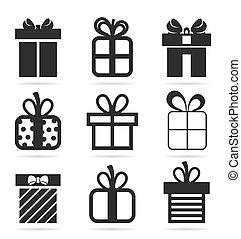 regalo, un, icono