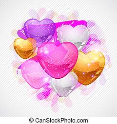 regalo, valentino, flyer., fondo., vector, día, tarjeta