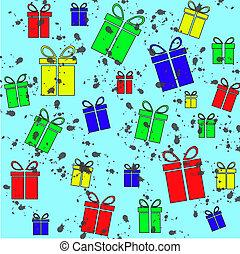 regalo, vendimia, plano de fondo