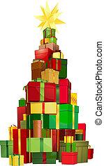 regalos, árbol, navidad