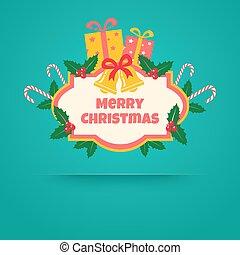 regalos, bandera, navidad, bel