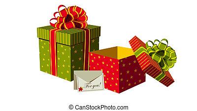 regalos, cajas, navidad
