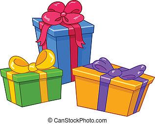 regalos, caricatura
