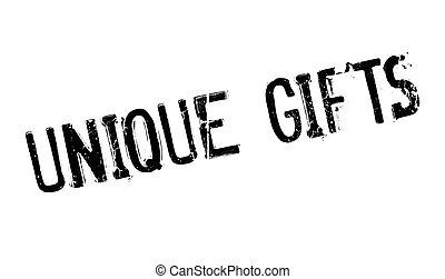 regalos, caucho, único, estampilla