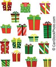 regalos, diferente, conjunto