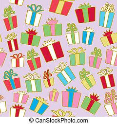 regalos, feriado, seamless