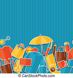 regalos, patrón, seamless, souvenirs., promocional