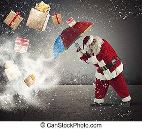 regalos, santaclaus, contra