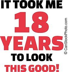regard, -, années, il, anniversaire, 18, ceci, me, 18ème, prîmes, bon