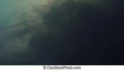 regard, encre, pourpre, boueux, nuage, grungy, eau