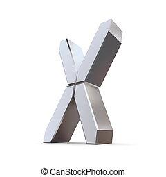 regard, -, lcd, lettre x, brillant