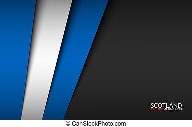 regard, moderne, écossais, espace, gratuite, couleurs, drapeau, gris, texte, ton, couvre papier, fait, ecosse, vecteur, fond, overlayed