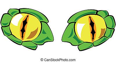 regarde colorez, -, illustration, vecteur, serpent