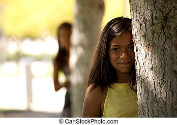 regarder, a, arbre