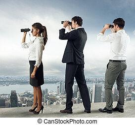 regarder, avenir, professionnels