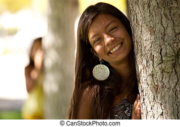 regarder, bewind, a, arbre
