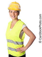 regarder, bon, ouvrier construction