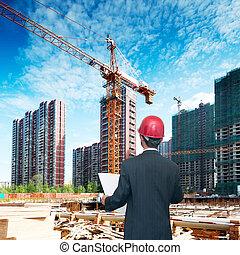 regarder, comparer, logement, architecte, projet