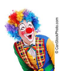 regarder, copie, ar, clown, espace