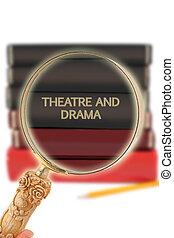 regarder, -, education, théâtre, drame