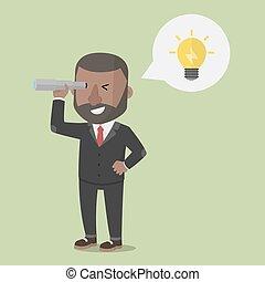 regarder, entrepreneur, idée