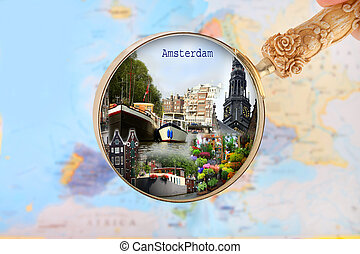 regarder, hollande, amsterdam